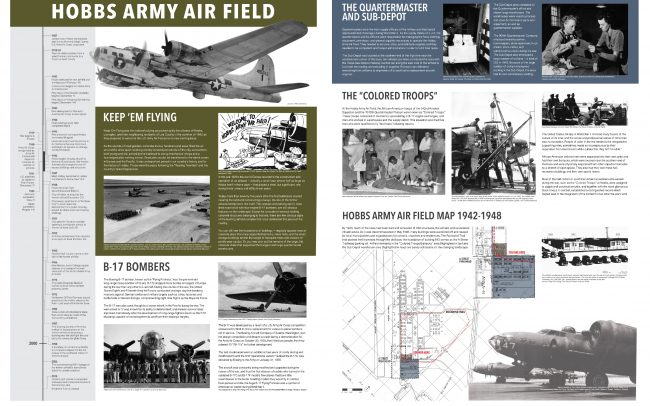 Hobbs Airforce Base interpretive signage